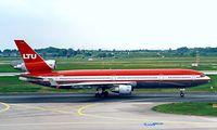 D-AERB @ EDDL - McDonnell-Douglas MD-11 [48484] (LTU) Dusseldorf~D 23/05/1998 - by Ray Barber