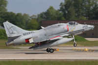 N268WL @ ETNT - BAe A-4N Skyhawk N268WL upon recovery into Wittmund AB - by Nicpix Aviation Press  Erik op den Dries