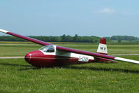 G-CFKY @ X3SI - Staffordshire Gliding Club, Seighford Airfield - by Chris Hall