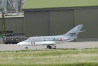 129 @ EGQL - 57S Falcon 10 arrives at Leuchars on a support flight for the French navy detachment during exercise joint warrior 13-1 - by Mike stanners