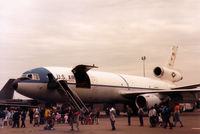 79-1712 @ MHZ - KC-10A Extender of 32nd Air Refuelling Squadron/2nd Bomb Wing at Barksdale AFB on display at the 1987 RAF Mildenhall Air Fete. - by Peter Nicholson