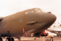 58-0178 @ MHZ - B-52G Stratofortress of 340th Bomb  Squadron/97th Bomb Wing on display at the 1987 RAF Mildenhall Air Fete. - by Peter Nicholson