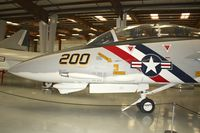 158985 @ KCNO - 158985 (NJ-437), Grumman F-14A Tomcat, c/n: 46 with new markings NK-200 at Yanks Air Museum Chino - by Terry Fletcher