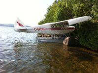 C-GPUG - Piper Pa12-150 on edo floats - by François Belanger