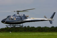 G-GMCM @ EGBT - being used for ferrying race fans to the British F1 Grand Prix at Silverstone - by Chris Hall