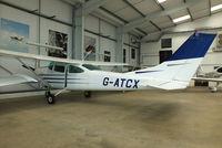 G-ATCX @ EGBT - Turweston resident - by Chris Hall