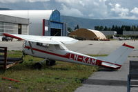 LN-KAM @ ENNO - Cessna F150G without engine at Notudden airfield, Norway. - by Henk van Capelle