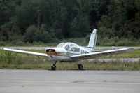 LN-ABR @ ENNO - Socata Rallye parked at Notudden airfield, Norway. Its propeller is missing. - by Henk van Capelle