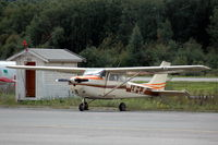 LN-LJF @ ENNO - Cessna F172H parked at Notudden airfield, Norway. - by Henk van Capelle
