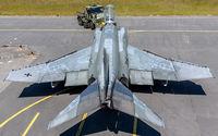 38 73 @ ETNT - pushback into its hardened aircraft shelter