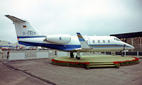 D-CACP @ EDDV - Learjet 55 [55-086] Hannover~D 25/05/1984. Image from a slide.