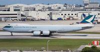 B-LJG @ MIA - Cathay Cargo 747-800