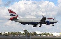 G-CIVE @ MIA - British 747-400