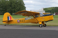 G-BLPG @ EGBR - Auster J-1N Alpha at The Real Aeroplane Company's Jolly June Jaunt, Breighton Airfield, 2013. - by Malcolm Clarke