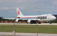 LX-WCV @ MIA - Cargolux 747-400