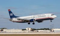 N406US @ MIA - US Airways 737-400