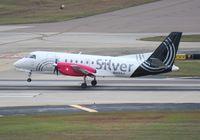 N412XJ @ TPA - Silver Saab 340B