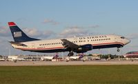 N444US @ MIA - US Airways 737-400