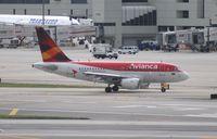 N589AV @ MIA - Avianca A318