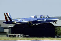 F-GIGJ @ LFSR - Ex AdlA Magister in the colors of Patrouille de France. Sold to the US as N561VM.