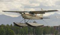 N2921A @ PALH - Landing at Lake Hood Seaplane Base