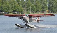 N877DG @ PALH - Landing at Lake Hood Seaplane Base