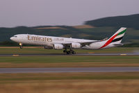 A6-ERH @ VIE - Emirates Airbus A340-500 - by Thomas Ramgraber