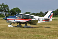 G-BUYS @ EGBR - Robin DR-400-180 Regent at The Real Aeroplane Company's Wings & Wheels Fly-In, Breighton Airfield, July 2013. - by Malcolm Clarke