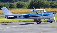 G-IANJ @ EGFH - Visiting Reims F150K from Haverfordwest Airport (EGFE) Student doing cross country. - by Derek Flewin