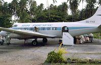 DQ-FAE @ NFNS - Air Pacific's Heron on the apron in Savusavu airport, Vanua Levu, Fiji Islands - by joetourist