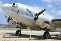 N53594 @ KCMA - Opportunity for close-up photos of a Curtiss C-46F Commando at Commemorative Air Force Museum at Camarillo , Southern California