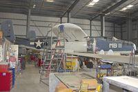 N5865V @ KCMA - CAF restoration hangar at Camarillo