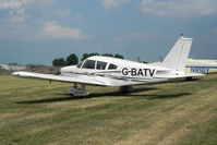 G-BATV @ EGBR - Piper PA-28-180 Cherokee at The Real Aeroplane Company's Wings & Wheels Fly-In, Breighton Airfield, July 2013. - by Malcolm Clarke