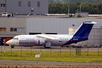 OO-DJE @ EBBR - BAe 146-RJ200 [E2164] (Brussels Airlines) Brussels~OO 13/08/2010. Stored.