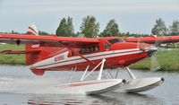 N2899J @ PALH - High speed taxi on Lake Hood - by Todd Royer