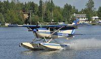 N61599 @ PALH - Lading on Lake Hood