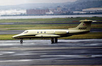 N900P @ DCA - Learjet 25 taxying at what was then known as National Airport in May 1972. - by Peter Nicholson
