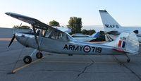 C-GSOY @ KAXN - Cessna 305A Birddog on the line. - by Kreg Anderson
