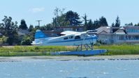 C-FJFQ @ CYVR - Van City Seaplanes #200 taking off from the Fraser River. - by M.L. Jacobs