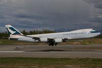 B-LJJ @ PANC - Cathay Pacific Boeing 747-8