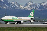 B-16463 @ PANC - Eva Air Boeing 747-400