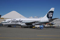 N740AS @ LHD - Alaska Airlines Boeing 737-200