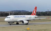 TC-JLV @ EGPH - Turkish airlines A319 Taxiing to runway 06 for departure to IST - by Mike stanners