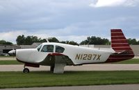 N1297X @ KOSH - Mooney M20E - by Mark Pasqualino