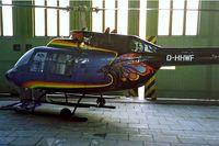 D-HHWF @ EDDI - D-HHWF   Bell 206B3 Jet Ranger III [2530] Berlin-Templehoff~D 18/05/1998. Unusual colour scheme. - by Ray Barber