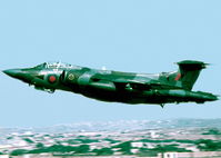 XW542 @ LMML - HS Buccaneer XW542/Z of No16Squadron Royal Air Force departing RAF Luqa, Malta for a sortie.