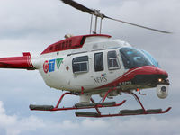 C-FCTV @ YKZ - This 2007 Bell 206L-4 operated by CTV News, prepares to land at Buttonvolle Airport - by Ron Coates