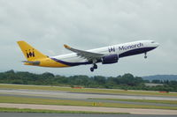 G-SMAN @ EGCC - Monarch Airbus A330-243 taking off from Manchester Airport. - by David Burrell