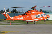 C-GYNM @ CYKZ - After a fuel stop, this bright helicopter was lifting off runway 21 for a short flight back to its base at the Toronto Island Airport (CYTZ). It's one of the new birds in the Ornge medivac fleet. - by Chris Coates