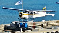 C-FFHQ @ CYHC - Harbour Air #203 docked at Coal Harbour terminal. - by M.L. Jacobs